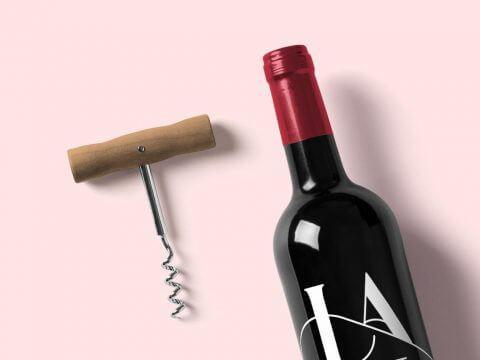 wino i korkociąg